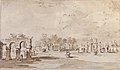 Gardens of the Villa Correr, near Strà (recto); Study for The Transverberation of Saint Teresa of Jesus and a Study of Hands (verso) MET 37.165.77 RECTO.jpg