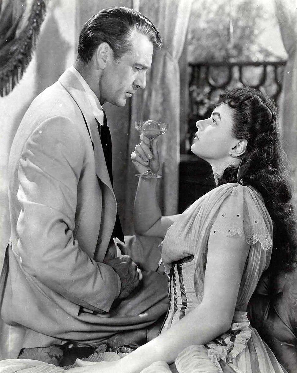 Gary Cooper and Ingrid Bergman in Saratoga Trunk 1945