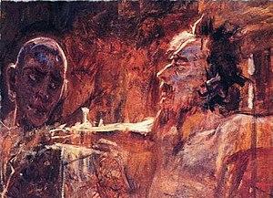 """Christ and the Thief"" by Nikolai Ge."