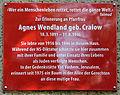 Gedenktafel Gethsemanestr 9 (Prenz) Agnes Wendland.jpg