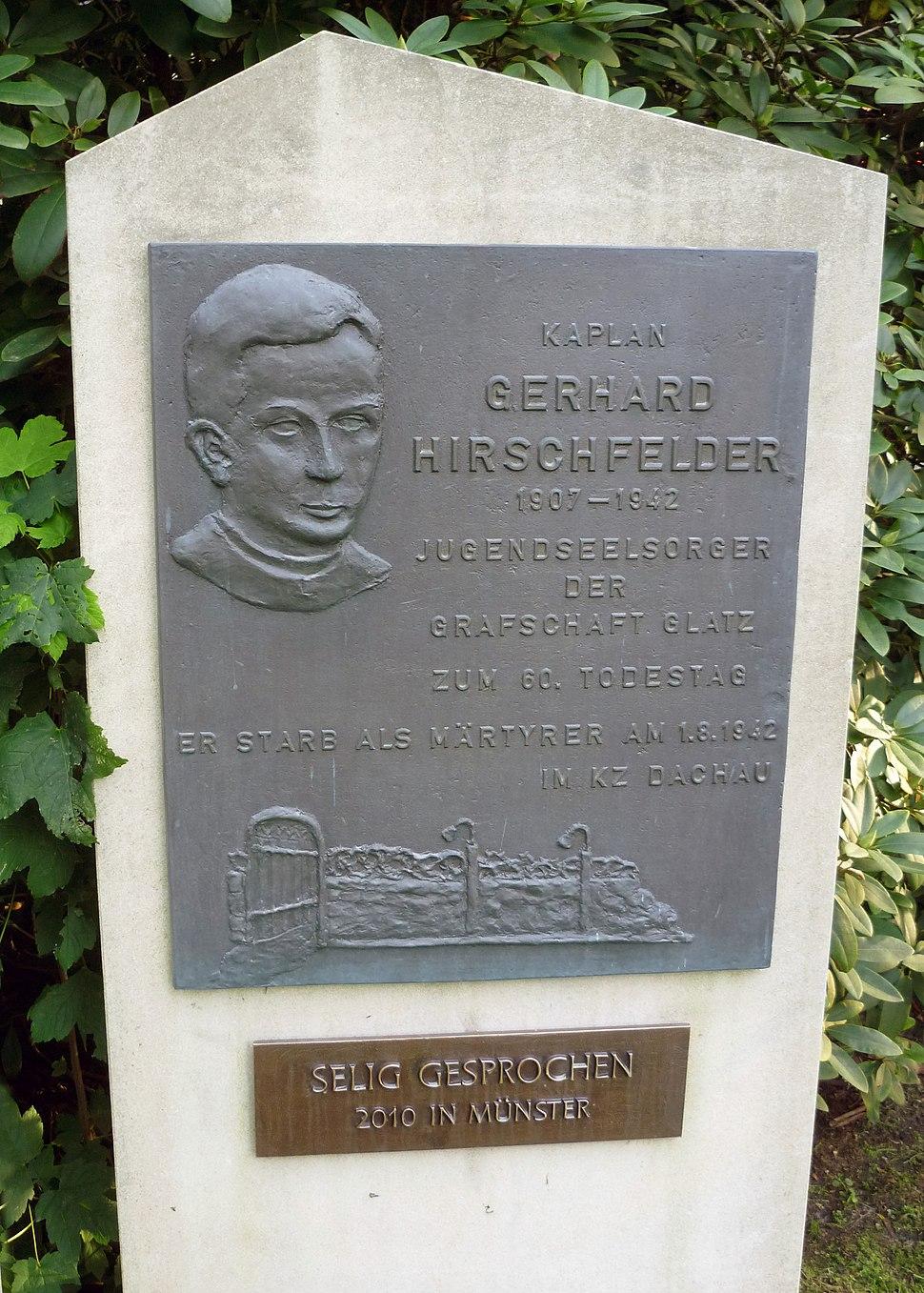 Gedenktafel f%C3%BCr Gerhard Hirschfeld in Telgte 01