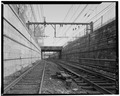 General view to east. - Maple Street Bridge, Spanning New Jersey Transit tracks at Maple Street, Summit, Union County, NJ HAER NJ,20-SUMT,1-5.tif