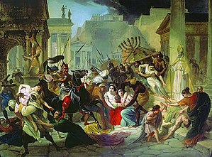 Genseric - Genseric Sacking Rome, a painting by Karl Briullov