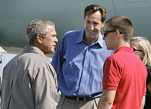 Chris Dudley - Dudley meeting with President George W. Bush