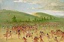 George Catlin - Ball-play of the Choctaw-ball up - 1985.66.428 - Smithsonian American Art Museum.jpg