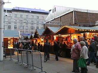 Millennium Square, Leeds - Image: German Christmas Market in Leeds