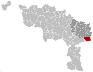 Gerpinnes - Image: Gerpinnes Hainaut Belgium Map