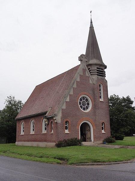Gibercourt (Aisne) église Saint-Quentin
