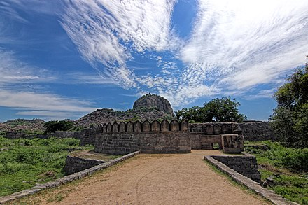 Gingee fort as seen from the entrance - Gingee Fort