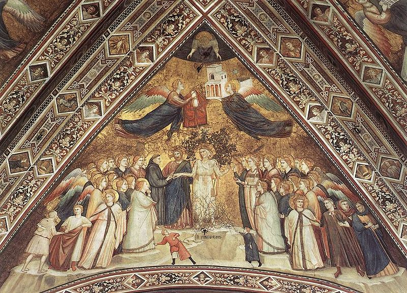 Giotto, Lower Church Assisi, Franciscan Allegories-Poverty 01.jpg
