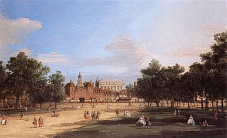 Horse Guards (building) - Old Horse Guards from St James's Park in 1749; painting by Canaletto.