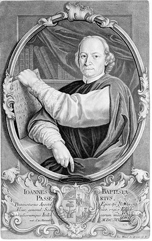 Giovanni Battista Passeri - Portrait of Giovanni Battista Passeri by Johann Jakob Haid