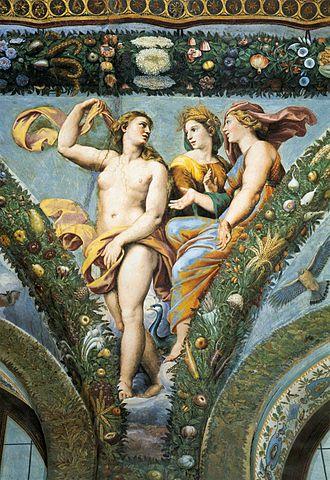 Giovanni da Udine - Loggia di Psiche frescoes