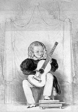 Giulio Regondi - Young Giulio performing at the Royal Adelphi Theatre in London on 3 September 1831