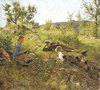 Erik Werenskiold - Image: Gjetere Tåtøy