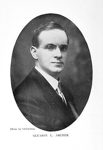 Suffolk University - Suffolk University founder Gleason Archer, Sr., ca. 1915