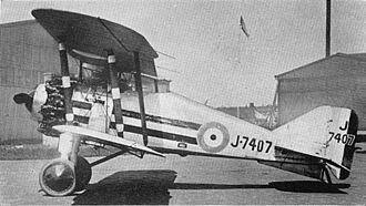 Gloster Grebe - Gloster Grebe of No. 25 Squadron RAF.