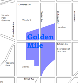 The industrial areas of the Golden Mile
