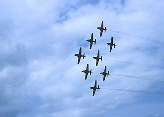 Golden Centennaires - Golden Centennaires performing at the Kingston, Ontario airshow, May 1967.