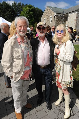 Pinsent with daughter Leah and director Norman Jewison (2013) Gordon and Leah Pinsent pose with Norman Jewison at his annual Canadian Film Centre BBQ 2013 -a.jpg