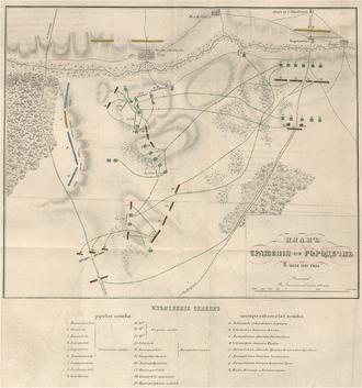 Battle of Gorodechno - Plan of the Battle of Gorodechno