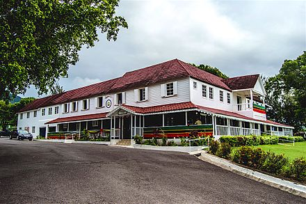 Government House, Basseterre, is the official residence of the Governor-General of Saint Kitts and Nevis. Government House, Basseterre.jpg