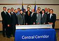 Governor Mark Dayton at a signing ceremony for the Central Corridor Light Rail 2.jpg