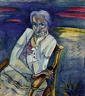 Rosa Schapire - Portrait by Walter Gramatté