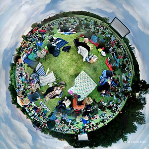 Cambridge Film Festival - Image: Grantchester Movies on the Meadows Globe
