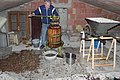 Grape press home made, the sweet wine to drink with Cantuccini biscuits.jpg