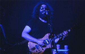 Jerry Garcia - Garcia in 1980, at the Hartford Civic Center
