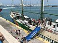Greenpeace Rainbow warrior in Haifa.jpg
