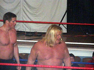 Greg Valentine - Valentine (right) in the ring with Reid Flair in 2009