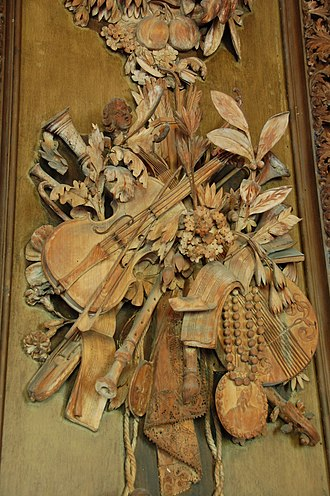 Grinling Gibbons - Detail from Carved  Room, Petworth House