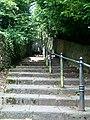 Grisiau at yr Eglwys Gadeiriol - Steps to the Cathedral - geograph.org.uk - 917109.jpg