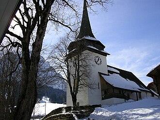 Gsteig bei Gstaad - Image: Gsteig Église Saint Théodule
