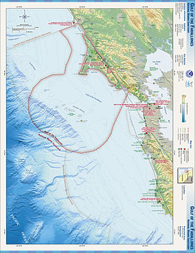 Map showing the location of Gulf of the Farallones National Marine Sanctuary