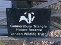 Gunnersbury Triangle badger logo LWT signboard.jpg