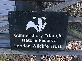 Gunnersbury Triangle - The former Badger signboard, 2012