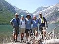 Gunsight Pass from the eastern shore of Gunsight Lake, July 23, 2007 - panoramio.jpg