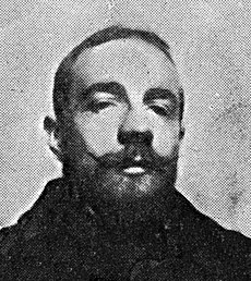 Black and white photograph of Gustave Verbeek in 1895