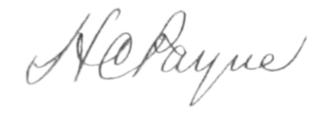 Henry Clay Payne - Image: HC Payne Signature
