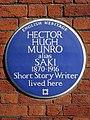 HECTOR HUGH MUNRO alias SAKI 1870-1916 Short Story Writer lived here.jpg