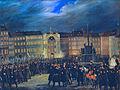 HGM Revolution 1848 Defilée der Nationalgarde auf dem Platz am Hof in Wien.jpg