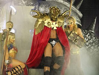 WrestleMania XXX - Triple H making a grand entrance for his match against Daniel Bryan.