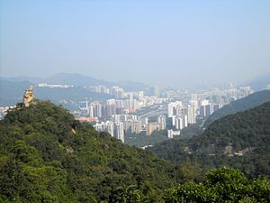 Sha Tin District - Day view of the Sha Tin District skyline
