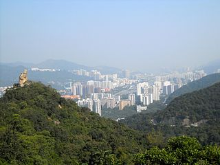 Sha Tin District District in New Territories, Hong Kong