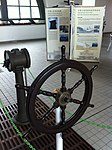 HK Central Piers interior exhibits of Star Ferry history Steering wheel Dec-2012.JPG