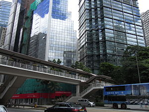 HK Wan Chai 金鐘道 Queensway footbridge view Wan Chai 3 Pacific Place July-2012.JPG