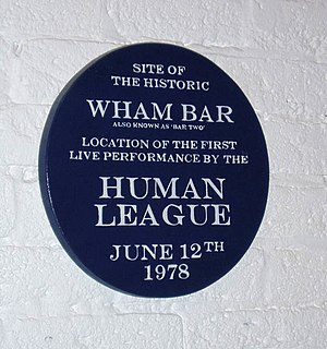 The Human League - Plaque located in Sheffield Hallam University commemorating the Human League's first live concert